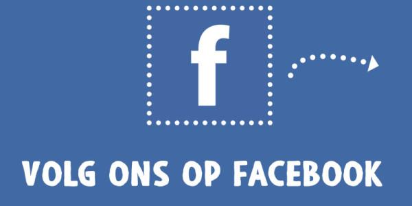 Volg ons nu ook op Facebook!